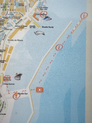 Walking on water... Map in Tenerife
