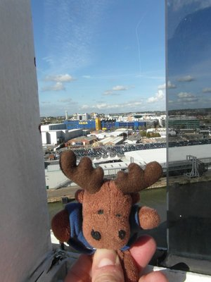 Clive on QM2 leaving Southampton Ikea...