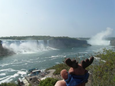 Looking at Niagara Falls