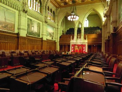Upper chamber of Canadian parliament