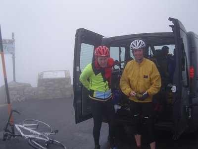 TK Cycle Day 5 - With Hasse on top of Mt. Ventoux
