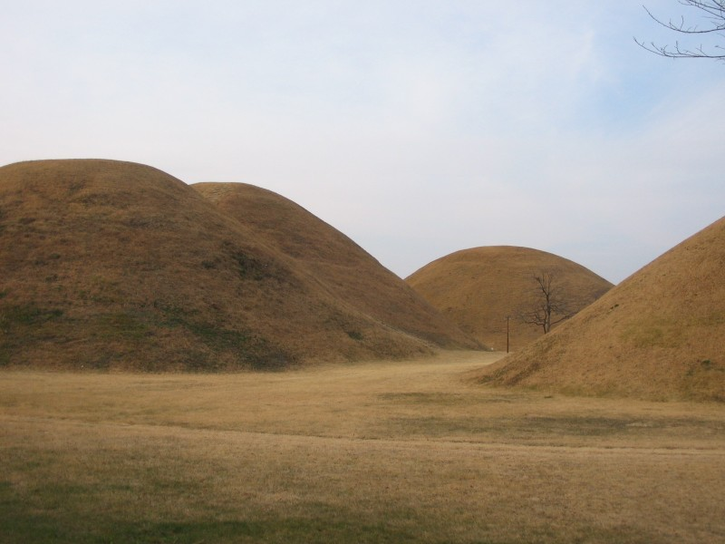 Gyeongju - Silla Dynasty burial mounds in the city centre