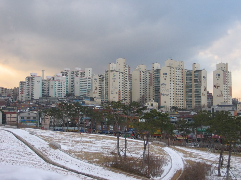 Suwon - Typical Korean architecture and numbered blocks