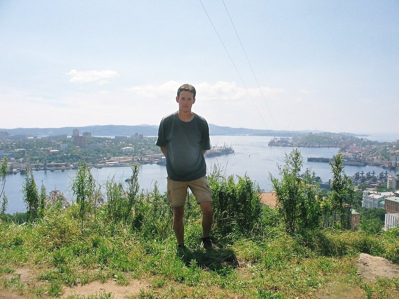 Vladivostok - Me overlooking the harbour