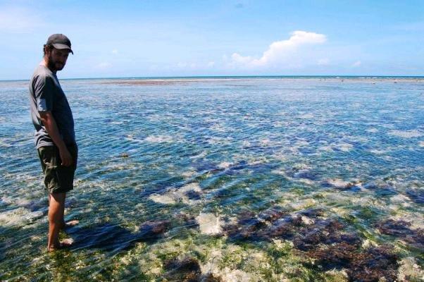 Me wading at Tiwi