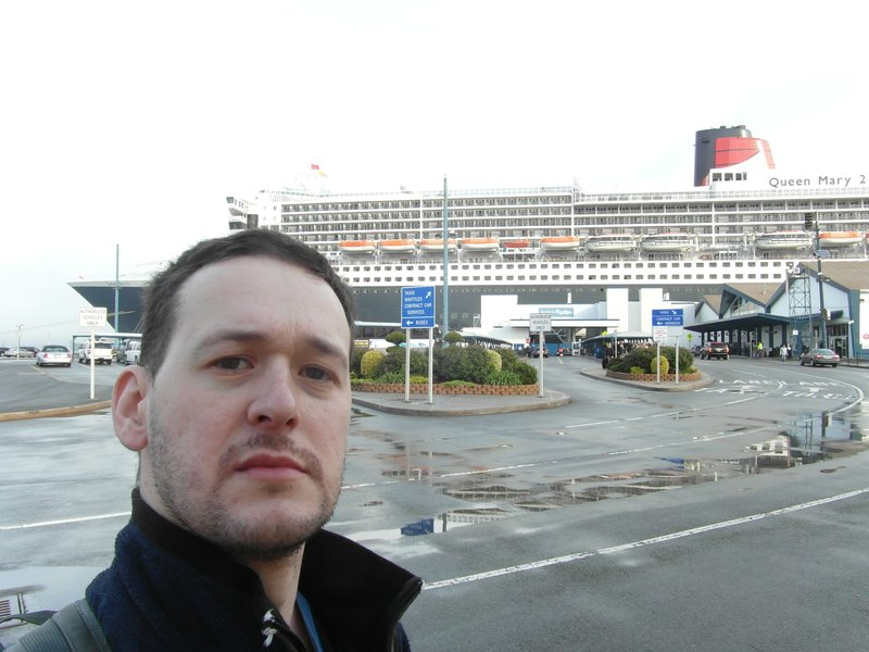 By the QM2 after arriving New York on first Transatlantic crossing of the year