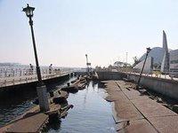 Kobe - Dock area, 1996 earthquake damage left as a reminder