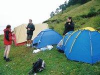 Lake Baikal, camping
