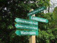 Sign on Toronto Island