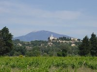 TK Cycle Day 4 - Mt Ventoux rises from the distance