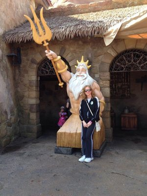 King Triton At Disney World's new Fantasyland