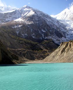 Gangapurna Mountain and Lake - Manang