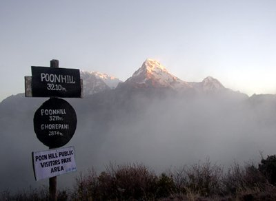 Annapurna Himal at Sunrise
