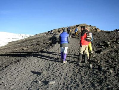 So close, yet so far!  Stella Point to Uhuru Peak - Mt. Kilimanjaro