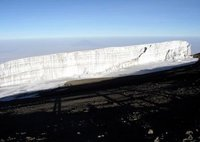 Glacier at the top of Mt. Kilimanjaro