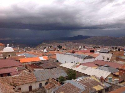 Dark clouds over Potosi