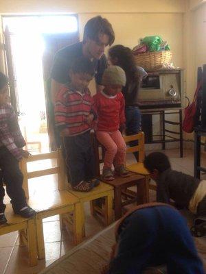 Volunteering at the nursery
