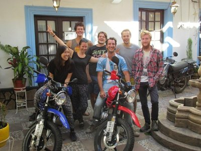 Our mates at the hostel