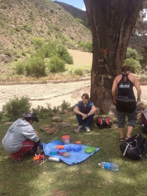 Picnic during the hike