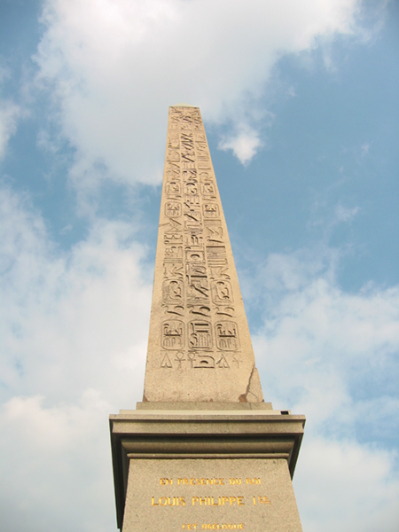 Close up of the Obelisk, Paris