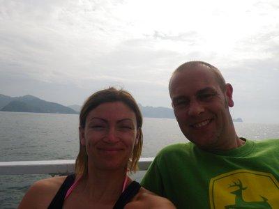 Aboard scuba addicts boat