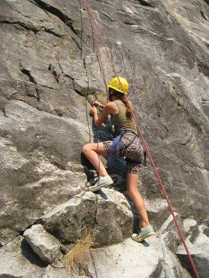 Me starting the climb
