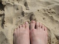 My feet at the beach