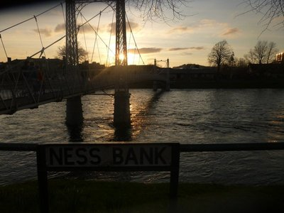 Sunset on the river Ness