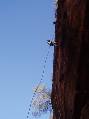Abseiling, Kalbarrie NP