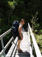 Starting the Abel Tasman coastal track walk