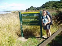 Happy to finish four days of walking the Abel Tasman coastal track
