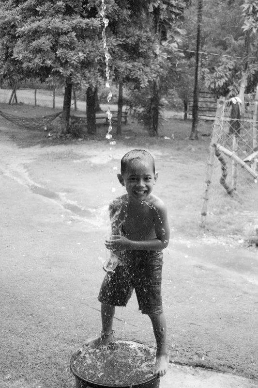 Tropische Dusche