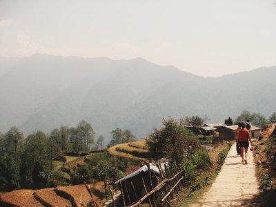 Walking into Ghandruk