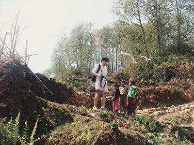 Trekker and Children