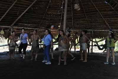 Topless Amazonians. It's not Vegas, but they tried.