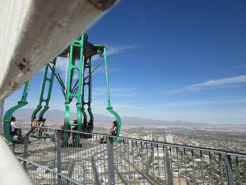 One of the rides 1000ft up on Stratosphere. Ours was even higher.