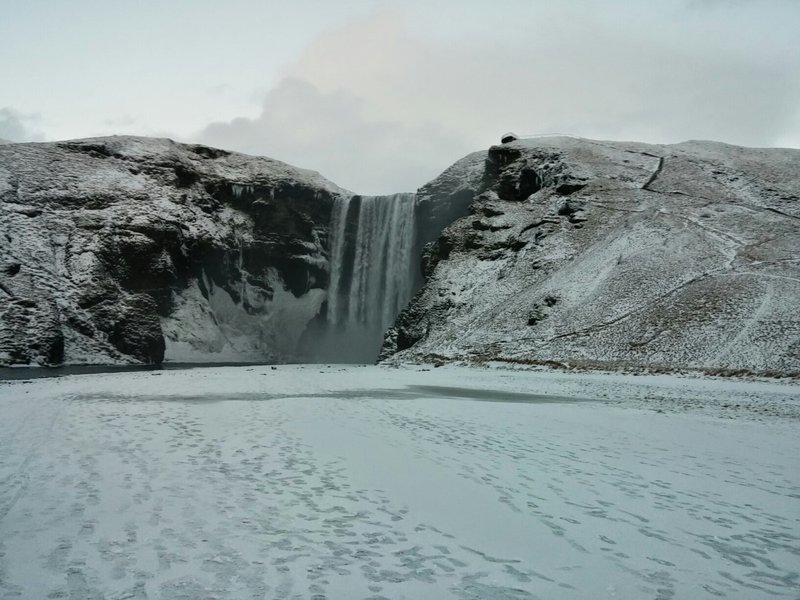 Skogafoss Winter