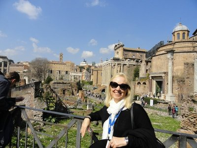 Linda at The Roman Forum