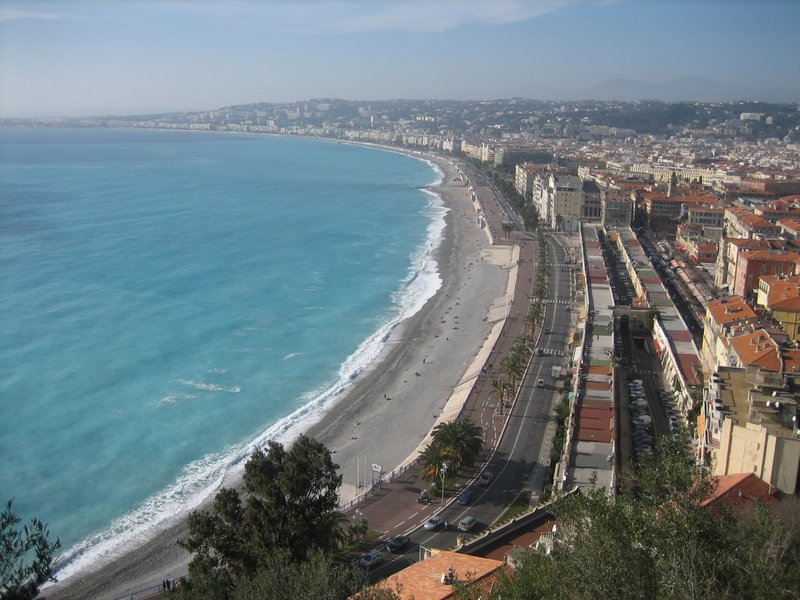 Overlooking Nice, France