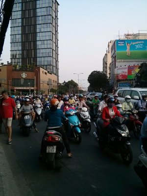 a sea of scooters