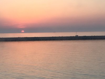 Sunset over the Adriatic at Ancona