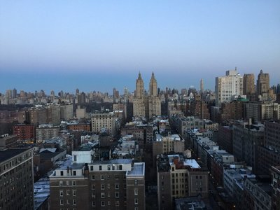 San Remo Building towers and NY skyline