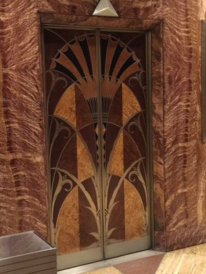 Lift door in Chrysler building