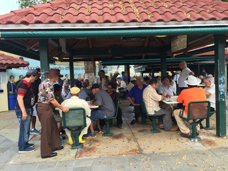 Playing dominoes in Little Havana