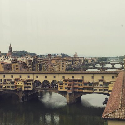 Arno river through Florence