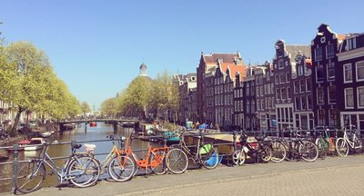 Amsterdam Canal and Bikes