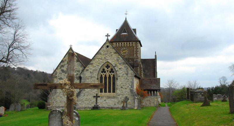 English countryside church