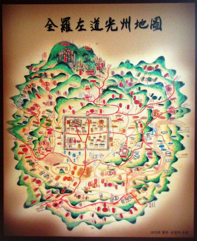 Map of Mudeungsan National Park