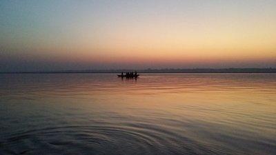 Varanasi, levé du soleil