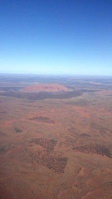 Uluru de l'avion